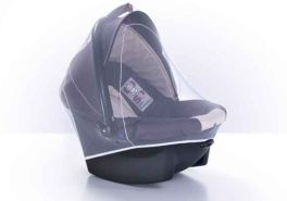 reer Insektennetz für Babyschalen, Moskitonetz passend für alle Modelle wie Maxi Cosi, schwarz