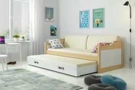 Stylefy Tore Funktionsbett 80x190 cm Kiefer Weiß