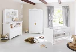 Pinolino 'Florentina' 3-tlg. Kinderzimmer-Set extrabreit, inkl. extrabreitem Regalaufsatz