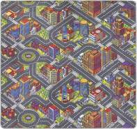 Misento 'Big City' Kinderteppich 200x200 cm