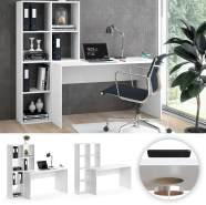 Vicco 'Mara' Schreibtisch, Weiß, inkl. QI Ladestation kabelloses laden
