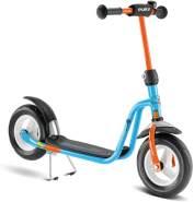 Puky 2001 'R 03' Scooter, ab 3 Jahren, höhenverstellbar bis 73 cm, Sicherheitslenkergriffe, Lenkerpolster, max. belastbar bis 50 kg, Themenwelt: Die Maus, blau/orange