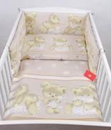 Babylux 'Bären Beige' Kinderbettwäsche 40x60/100x135 cm