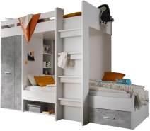 Bega 'Maxi' Funktionsbett weiß/grau