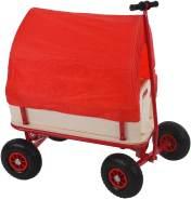 Bollerwagen Handwagen Leiterwagen Oliveira ~ ohne Sitz, ohne Bremse, Dach rot