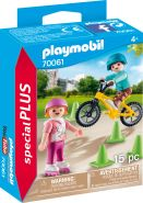 PLAYMOBIL Special Plus 70061 'Kinder mit Skates und BMX', 15 Teile, ab 4 Jahren
