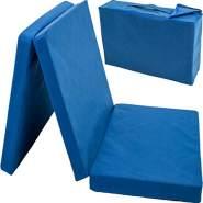 Stimo24 Reisebettmatratze blau inkl. Transporttasche 60x120 cm