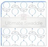Swaddle Designs 'Ultimative' Pucktuch Lutscher und Blumen/Blau