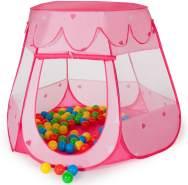 Tectake - Spielzelt mit 100 Bällen pink
