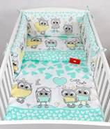 Babylux 'Eule Minze' Kinderbettwäsche 40x60/100x135 cm