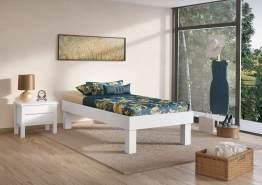Erst-Holz Futonbett mit hohen Füßen 100x200 cm