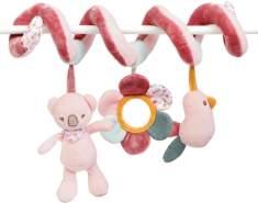 Nattou Spielspirale mit Hängefiguren, Iris und Lali, 40 x 24 x 11cm, Rosa