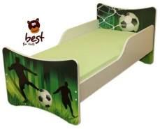 Best for Kids 'Fussball' Kinderbett mit Schaummatratze 70x140 grün