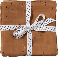 Done by deer Swaddle Set Dreamy Dots allover Print 120 x 120 cm mustard/braun