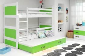 Stylefy Lora mit Extrabett Etagenbett 80x160 cm Weiß Grün