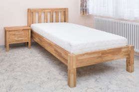 'Ben' Kinderbett aus massiver Eiche, geölt, 100x200 cm