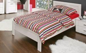 FORTE 'Snow' Möbel Einzelbett weiß matt. 90x200 cm