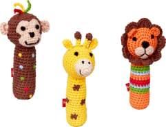 Minirassel (Affe, Giraffe, Löwe) BabyGlück, sortiert, 1 Stück, zufällige Auswahl, keine Vorauswahl möglich