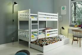 Stylefy Jan mit Extrabett Etagenbett Weiß