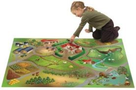 House of Kids 11223-E3 - Playmat Quadri Ferme Connect, 100 x 150 cm