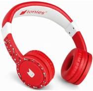 Tonies 'Tonie-Lauscher' Rot, Kinder-Kopfhörer passend zur Toniebox, Lautstärke reguliert, abnehmbares Kabel, größenverstellbar, bewegliche Ohrmuscheln