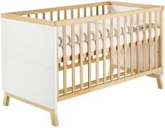 Schardt 'Miami White' Kombi-Kinderbett 70x140 cm, weiß, 3-fach höhenverstellbar, 3 Schlupfsprossen