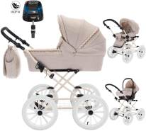 Friedrich Hugo Natureline Uni | 4 in 1 Kombi Kinderwagen | ISOFIX Set | Farbe: Catherine Creme
