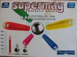 Supermag Magnet-Spiel UNIBAR 18 tlg