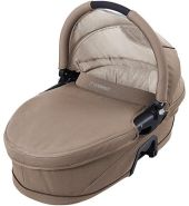 Maxi Cosi Kinderwagenaufsatz (Carrycot) für Streety Plus, Loola & Elea - Walnut Brown