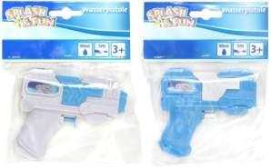 Splash und Fun Wasserpistole blau/weiß, sortiert, 11 cm