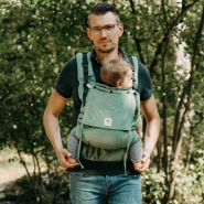 LIMAS Flex Babytrage Fullbuckle | 56 – 104 cm | Bauchtrage & Rückentrage & Onbuhimo | ab 2. -3. Monate bis 3+ Jahre | Baby Carrier | Jade