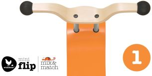 Wishbone Mini-Flip Top Mix und Match Orange