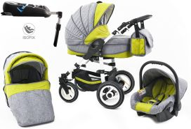 Tabbi ECO LN | 4 in 1 Kombi Kinderwagen | Hartgummireifen | Farbe: Green