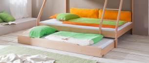 Bettkasten zu Bett MIKE oder Nik der Fa. Relita, in Buche massiv natur lackiert