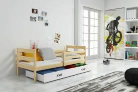 Stylefy Kera Funktionsbett 80x190 cm Eiche Weiß