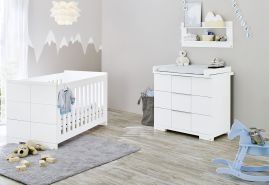 Pinolino 'Polar' 2-tlg. Babyzimmer-Set weiß