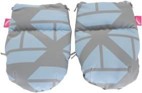 MOTHERHOOD Handwärmer Muffs für Kinderwagen – aus SOFTSHELL, Schiffe blau