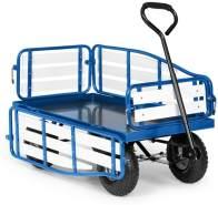 Waldbeck Ventura Bollerwagen Schwerlast 300 kg wetterfest Stahl WPC Blau