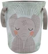 """Nattiot Aufbewahrungskorb Elefant """"Junko"""", 100% Baumwolle, 30 x 40 cm"""