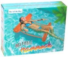 Luftmatratze Hängematte aufblasbare Pool Mesh Netz Liegematte orange