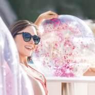 strandball Glitter 51 cm PVC rosa