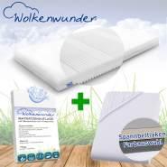 Wolkenwunder 'Multi' Matratze, mittlere Härte, 80x200 cm, inkl. 1 Hygieneauflage & 1 Spannbettlaken, anthrazit