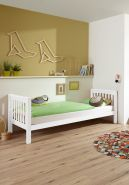 Relita Kinderbett Einzelbett Kick 90x200 cm Buche massiv Weiß