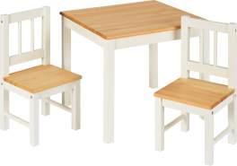 IB Style 'Noa' 3-tlg. Kindersitzgruppe weiß/natur