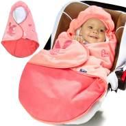 Lupilu Babydecke zum Einschlagen mit Fußsack- 90x75cm (Farbe: rosa)