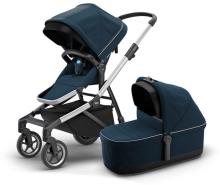 Thule - Sleek inkl. Thule Babywanne Aluminium Navy Blue Kollektion 2020