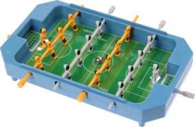 Mini Tischfußball Spiel blau 17 x 12,5 x 3 cm