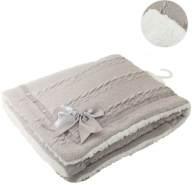 Soft Touch Decke Cheveron junior Wolle grau