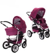 Bebebi Bellami | 2 in 1 Kombi Kinderwagen | Luftreifen | Farbe: Bellamore