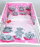 Babylux 'Rosa Bär' Kinderbettwäsche 40 x 60/100 x 135 cm
